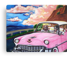 'Elvis & Jesus Go For A Drive' Metal Print