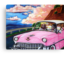 'Elvis & Jesus Go For A Drive' Canvas Print
