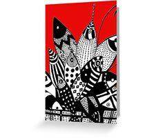 2 Many Fish in The  Basket  Greeting Card