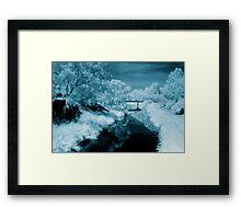 blue day.... bridge over the river styx Framed Print