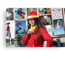 I found Carmen Sandiego Close-up Canvas Print