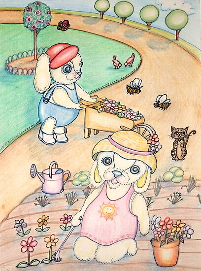 Nana and Poppy Pooky love to Garden by Lorna Gerard