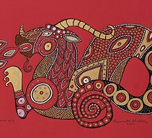 Red Dragon No. 5 by Lynnette Shelley
