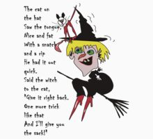 Witch cat hat, with poem by Tom Godfrey