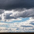 Clouds and land by Andy Bulka
