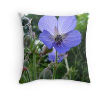 sun through blue Throw Pillow