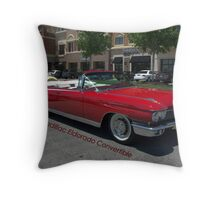1960 Red Cadillac Eldarodo Convertible Throw Pillow