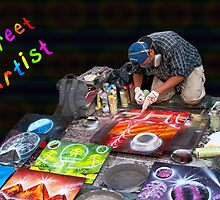 Street Spray Paint Artist by MaluC