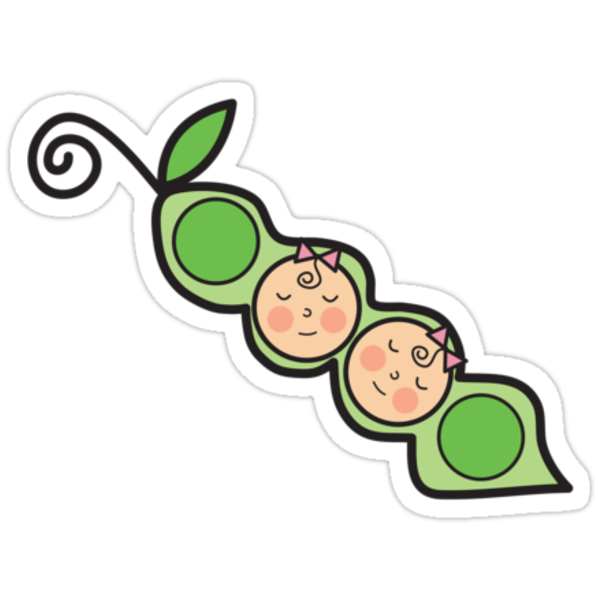 Baby Girl Twins Peas in a Pod T-shirt by fatfatin