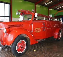 1941 30cwt Ford V8 Fire Truck by Antonia Newall