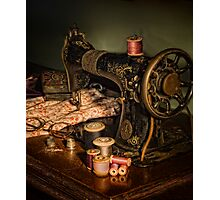 vintage sewing machine Photographic Print