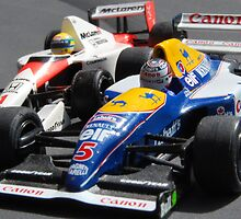 Senna v Mansell, Wheel to Wheel ? by Phil Mitchell