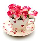 Roses in a cup by faithimages