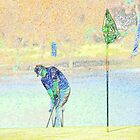 Digital Art Image of Golfer Making Shot by Diane Johnson