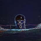 Digital Art Image of Young Swimmer by Diane Johnson