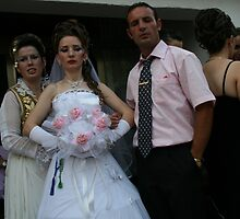 Albanian Bride and Groom in Kosovo by Christopher Bobyn