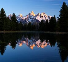 Tetons' First Light - Schwabacher Landing by Stephen Beattie