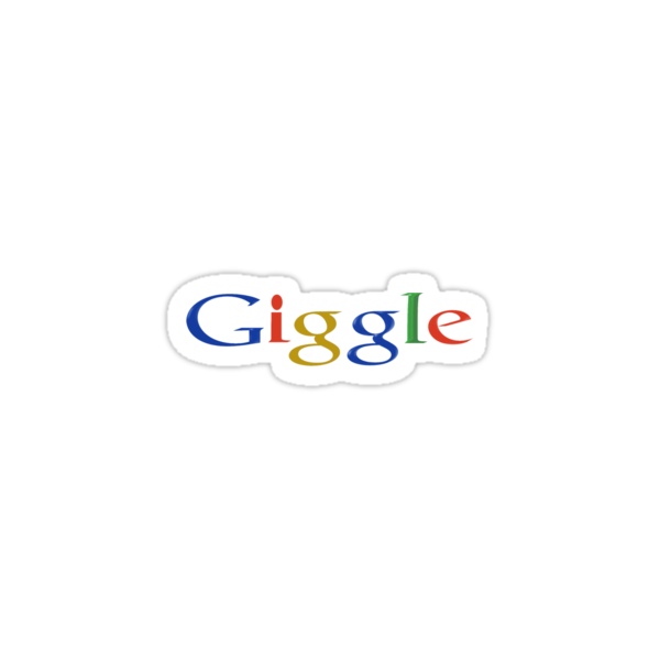 GOOGLE SHIRT WITH GIGGLE WORD by loganhille