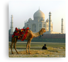 Taj Mahal-View from Yamuna River End Canvas Print