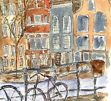 Amsterdam bicycles by David Hargreaves