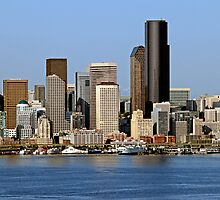 Cityscape of Downtown Seattle by Barb White