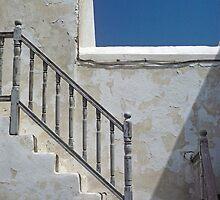 Paros, Greece staircase by milton ginos