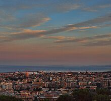 Catania at sunset by Andrea Rapisarda