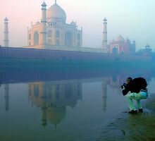 Taj Mahal and the Photographer by Mukesh Srivastava