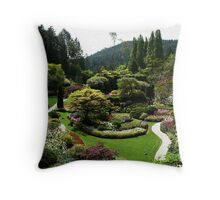 Butchart Gardens in Spring Throw Pillow