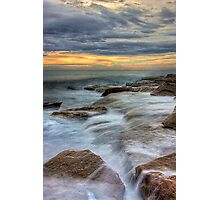 The eternal play between land and sea Photographic Print