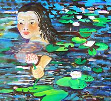river of lillies by Alison Edwards