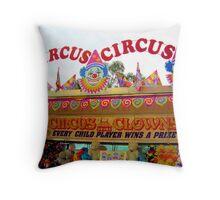 Circus Circus Throw Pillow
