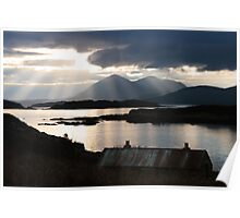 Isle of Skye from Coillegillie, Applecross Peninsula, Scotland. Poster