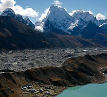 Gokyo Ngozumba and Arakamtse by Richard Heath