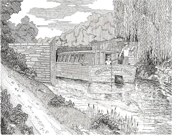 C&O Canal Boat by BobHenry