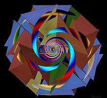'TetraStarSpiral' by Scott Bricker