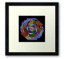 'TetraStarSpiral' Framed Print