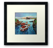 Castlebay Boats Framed Print