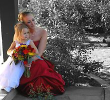Watching the Bride and Groom in the Garden by schmiddytwo