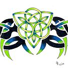 Triquetra Green by Lynsye Medalia