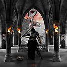 "The Crusader Series-VII ""King For A Day"" b/w by Darren Vannoy"