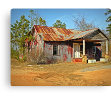 Old Abandoned Motel Canvas Print