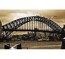 Sydney Harbour Bridge In Sepia Photographic Print