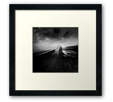 THE WINDHARPIST Framed Print