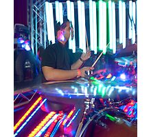 Electric Drumming Photographic Print