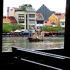 Through a Bum-Boat Window by Keith Richardson