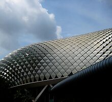 Pineapple-Skin Roofline of Singapore's Concert Hall by Keith Richardson