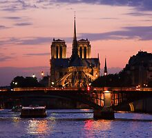 Notre Dame at Dusk, Paris by Tomas Abreu