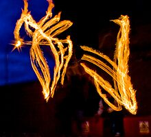 Fireshow at the Opening of the Blind Pig, Norwich by Ruski