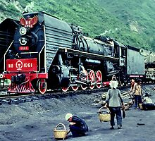 Steam train, China  by John Spies